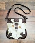 Realtree Winter Camouflage Cotton & Faux Leather Shoulder Bag