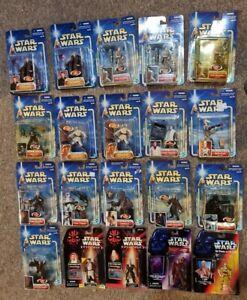 2001 2002 Hasbro Star Wars Hasbro  Action Figures LOT 20 Unopened.