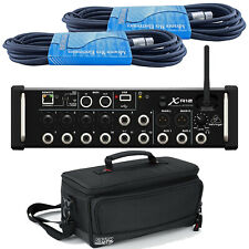 Behringer X-Air XR12 12-Input Digital Mixer with Gator Gig Bag & XLR Cables *NEW