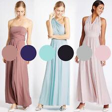 Ex M&S 6 Colour Multiway Strap Maxi Dress Size 6 - 22 Bridesmaids Party Occasion