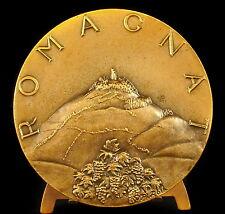 Médaille vue du Château de Montrognon Romagnat blason et armes Montronho Medal