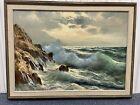 "Guido Odierna (1913-1991) Seaescape Oil on Canvas 20"" x 28"" Nice!"