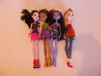 Monster High Ever After High Draculaura Clawdeen Jane Boolittle Dolls Lot Of 4