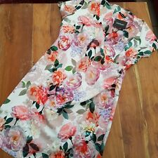 Size 16 Tea Dress Floral Print Wrap Front Brand New With Tags