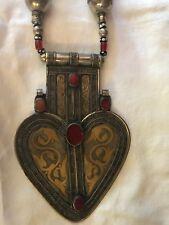 Antique  Turkoman  Silver & Carnelian Asyk Pendant Breastplate and Necklace