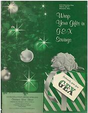 Vintage Dec 1950s issue G-E-X Christmas Catalog Department Store Milwaukee