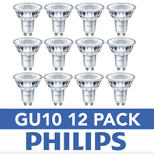 12 Pack GU10 Philips LED 4.6w 390lm (50w Equivalent) COOL WHITE Spotlight
