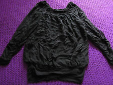 SuDor black Goth Punk top size 12 sexy floaty style work party casual