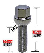 Wheel Lug Bolt-Lug Bolt Ball Seat 17mm Hex 12mm 1.50 x 33mm.