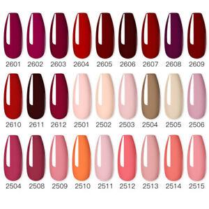 Gel Nail Polish pink colors UV LED Varnish Manicure Pedicure Salon Art Glitter