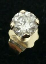 14k ~ .21 CARATS SINGLE DIAMOND STUD EARRING E Si2