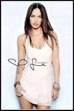 Megan Fox, Autographed, Pure Cotton Canvas Image. Limited Edition (MF-504)
