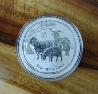 2015 Year of the Goat Silver Coin Lunar Series 2 Perth Mint