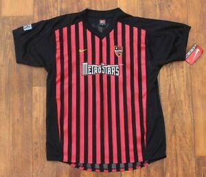 Deadstock 2003 Team Nike MLS Metrostars Soccer Jersey Shirt Youth XL Mens M NWT