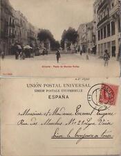 Tarjeta Postal. Alicante. Nº 10063 P. Z. Paseo de Méndez Nuñez.
