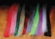 KRYSTAL FLASH HOT COLOR COMBO - 10 Packs Fluorescent Fly Tying