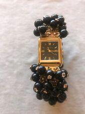 BECORA Quartz Black Dial Gold Tone Ladies Watch