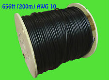 200m 656ft Solar PV cable wire gauge AWG 10 cable BLACK câble solaire CSA