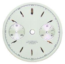 NOS Orig. Landeron L48 Chronograph / Chrono 30.5 mm Wristwatch Dial, Swiss 1940s