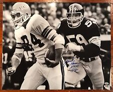 Jack Ham Autographed 16x20 Photo Steelers Vs Bengals HOF Inscription ITP PSA