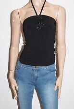PICNIC Designer Black Sequins Halter Top Size 8-XS BNWT #SY86