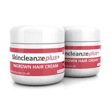 Skincleanze PLUS Ingrown Hair Treatment Cream Razor Bumps Shaving Rash 2 x 50g