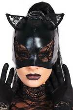 Sexy Night Move Wet Look Women Accessory Cat Mask Attach Lace On Ears And Eyes