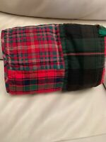 POTTERY BARN SULLIVAN PLAID PATCHWORK QUILTED EURO SHAM, NEW WITHOUT TAG