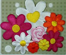 BEUTRON Iron On Motif Applique Assorted Flowers BM3202 9312919282028