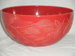 """NEW LENOX RUSTIC BERRY LARGE SERVING BOWL RED 11 1/2"""" DIAMETER 5 3/8"""" TALL"""