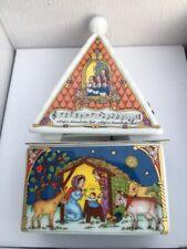Weihnachts X-Mas Spieldose Lim. Auflage 2000 HUTSCHENREUTHER Spieluhr RARITÄT