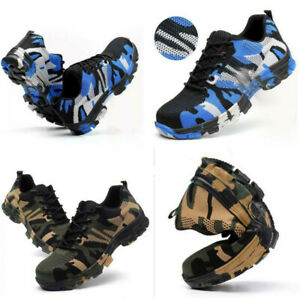 Men Safety Trainers Shoes Steel Toe Boots Indestructible Bullet Proof Protection