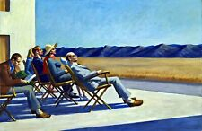 People in the Sun by Edward Hopper. Life Art Repro Choose Canvas or Paper