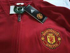MENS Adidas Manchester United Soccer Anthem RED Track Jacket Jersey XL Man U NWT