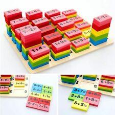 110pcs Wooden Domino Block Montessori Preschool Education Math Toys for Kid