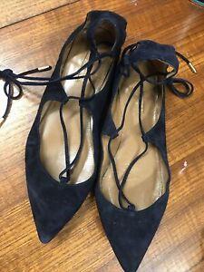 aquazzura Blue Shoes Size 36