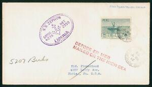 Mayfairstamps Peru 1959 SS Zephyr Liberia Paquebot Canada Cover wwp73565