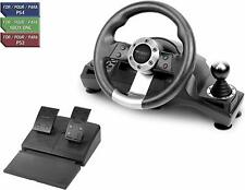 Racing Steering Wheel Shifter Pedal Set for Playstation 4 PS4 Pro Xbox One S PS3
