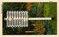 Vintage Postcard - Antique Handmade White Sign Post Maine ME Un-Posted #1851