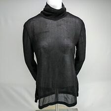 Elizabeth & James Stardust Kamilla Top Turtle Neck Black Size M NWT MSRP $264