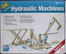 SET OF 4 WOODEN WORKING HYDRAULIC MACHINES -- CHERRY PICKER, EXCAVATOR, LIFTS