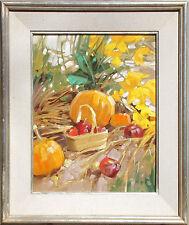 """Kim Mackey """"Garden Fest"""" Hand Signed Original Oil Painting on Board, Make Offer!"""