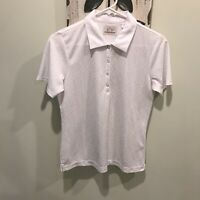 Womens EP Pro Tour Tech White Golf Polo Shirt Size Small Two Tone Pattern
