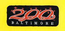 "BALTIMORE ORIOLES 1997 ""BALTIMORE 200"" BLACK JERSEY MLB PATCH"