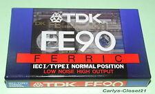 TDK FE90 Ferric * Blank Cassette Tape * New & Sealed *