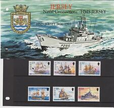 JERSEY PRESENTATION PACK 2001 Naval Connections HMS Jersey Stamp Set