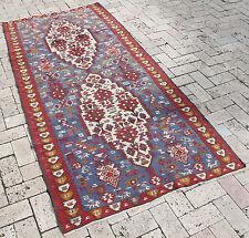 Turkish Kilim Rug Nomadic Oriental Rug Vintage Decor Organic Van Kilim 3'3''x7&#0 39;