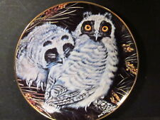 Danbury Mint 1988 Twinney Baby Owls Collection Long-Eared Owls Ltd Ed Plate