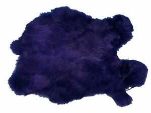Rabbit Pelt Dyed Purple Better Grade (134-092) L7