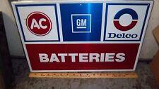 "Orig. AC Delco Batteries 36""x24"" Sign GM Parts/Service Dept./Musclecar Garage!"